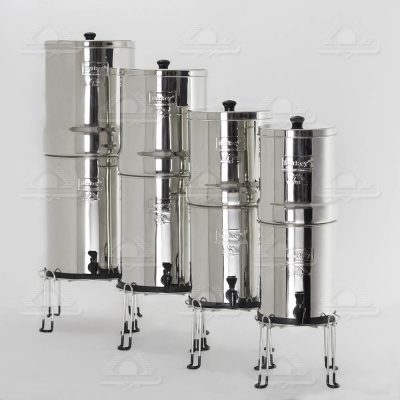 Different Sizes of Berkey Water Filters With Berkey Water Filter Stand